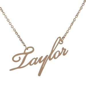Jewelry - Taylor Gold Name Nameplate Necklace